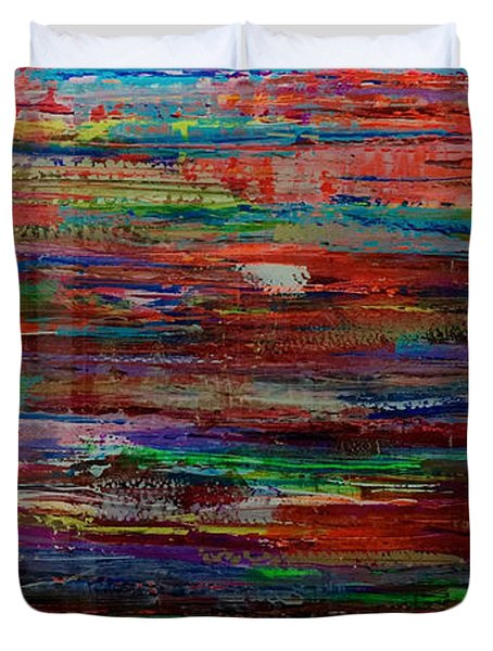 Abstract In Reflection Duvet Cover