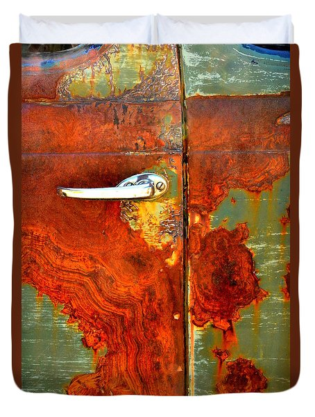 Abstract In Rust 24 Duvet Cover by Newel Hunter