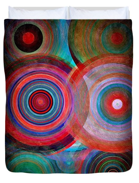 Abstract In Silk  Duvet Cover