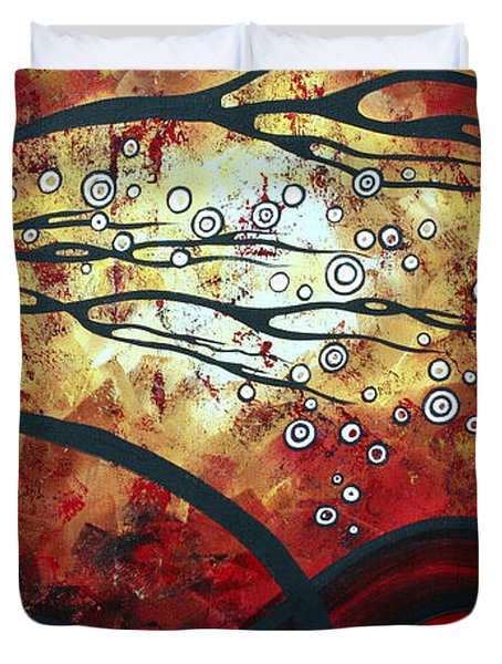 Abstract Landscape Art Original Painting Where Dreams Are Born By Madart Duvet Cover by Megan Duncanson