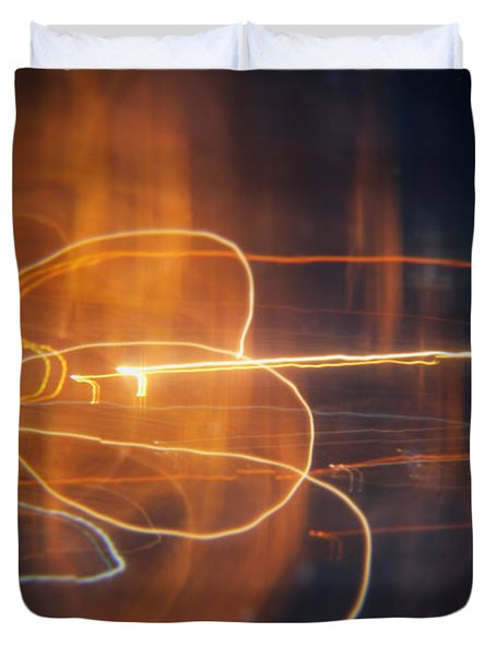 Abstract Light Streaks Duvet Cover by Pixel Chimp