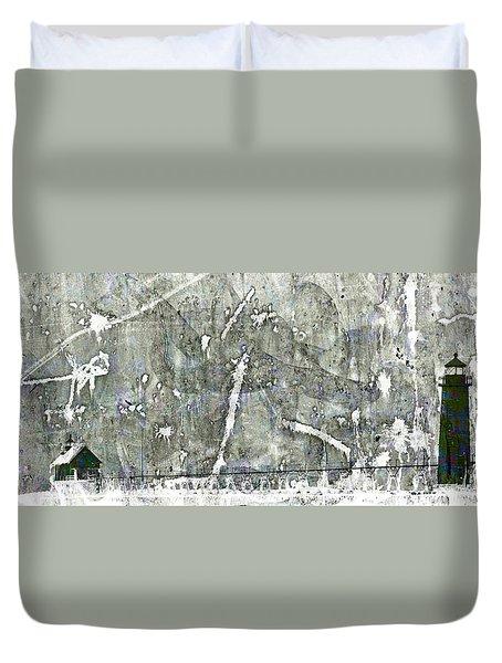 Abstract Lighthouses Duvet Cover by John Stephens