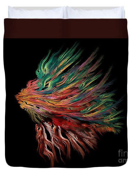Abstract Lion's Head Duvet Cover