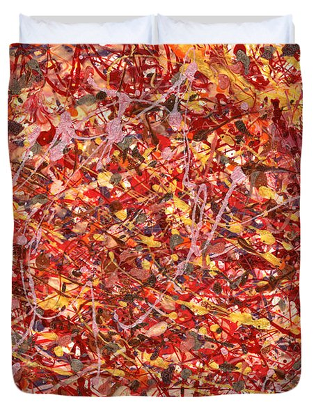 Abstract - Nail Polish - Cosmetically Speaking Duvet Cover by Mike Savad