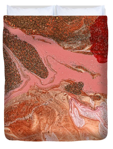 Abstract - Nail Polish - The Flow Of The Universe Duvet Cover by Mike Savad
