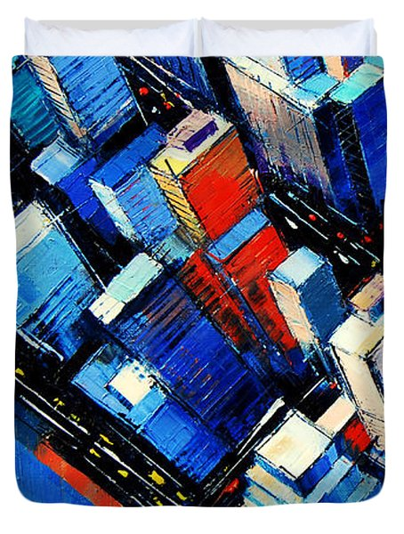 Abstract New York Sky View Duvet Cover