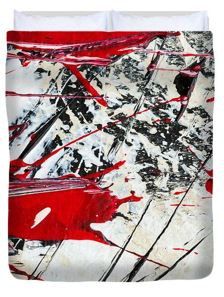 Abstract Original Painting Untitled Ten Duvet Cover