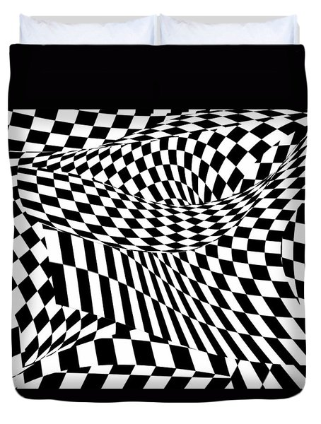 Abstract - Ow My Eyes Duvet Cover by Mike Savad