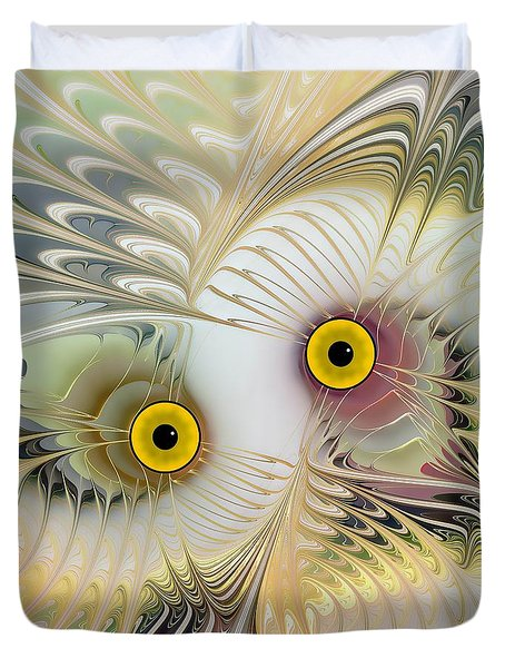 Abstract Owl Duvet Cover