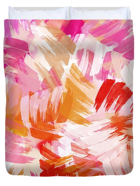 Abstract Paint Pattern Duvet Cover