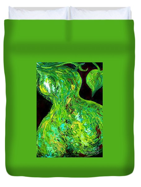 Abstract Pear Duvet Cover by Eloise Schneider