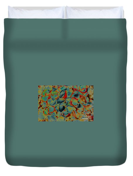 Duvet Cover featuring the photograph Abstract Rose Petals by Mae Wertz