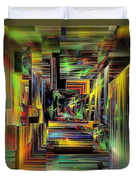 Abstract Perspective E3 Duvet Cover by Greg Moores