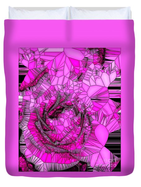 Abstract Pink Rose Mosaic Duvet Cover