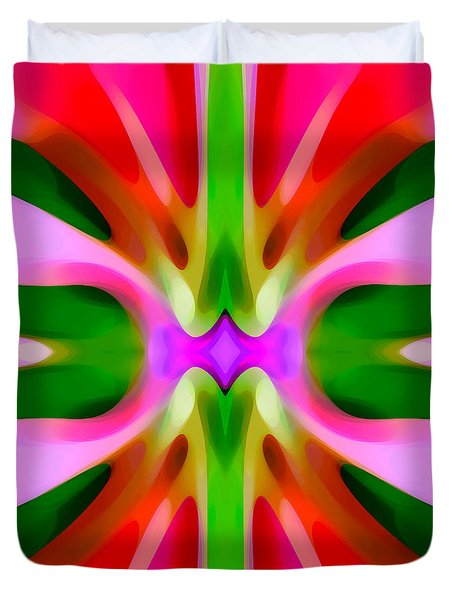 Abstract Pink Tree Symmetry Duvet Cover by Amy Vangsgard