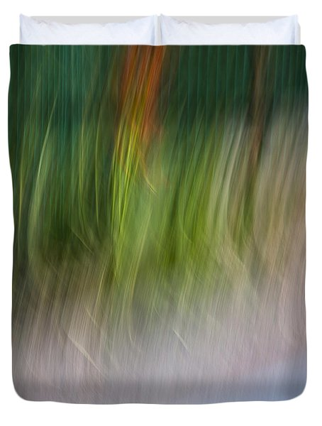 Duvet Cover featuring the photograph Abstract by Raffaella Lunelli
