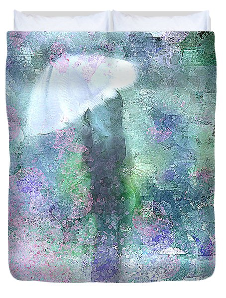 Abstract Rain Drops Duvet Cover by Jessica Wright