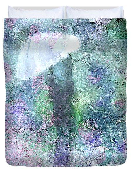 Abstract Rain Drops Duvet Cover