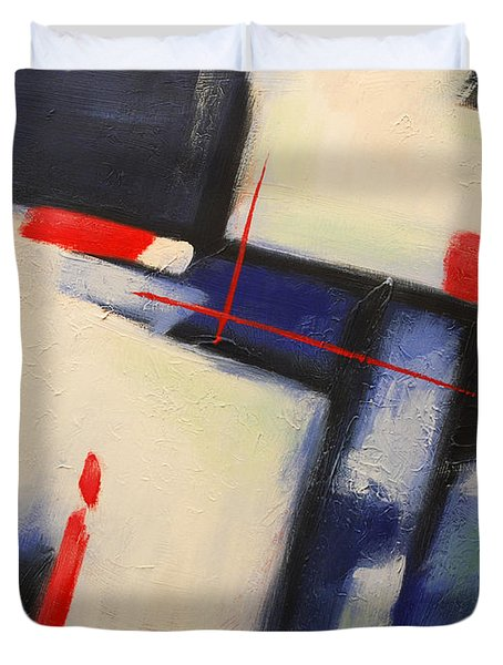 Abstract Red Blue Duvet Cover