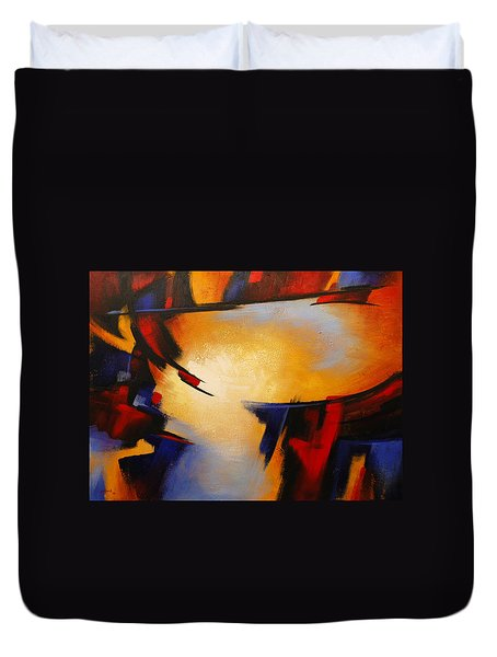 Abstract Red Blue Yellow Duvet Cover