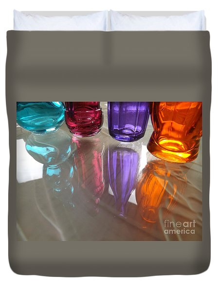 Abstract Reflections #4 Duvet Cover by Robyn King