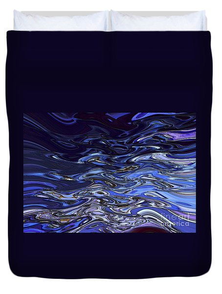 Abstract Reflections - Digital Art #2 Duvet Cover by Robyn King