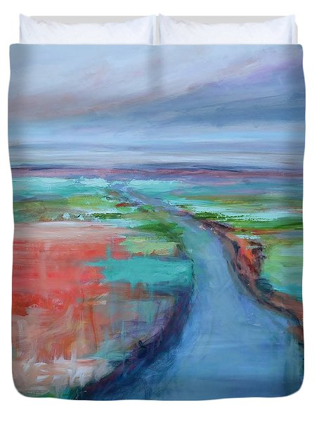 Abstract River Duvet Cover by Donna Tuten