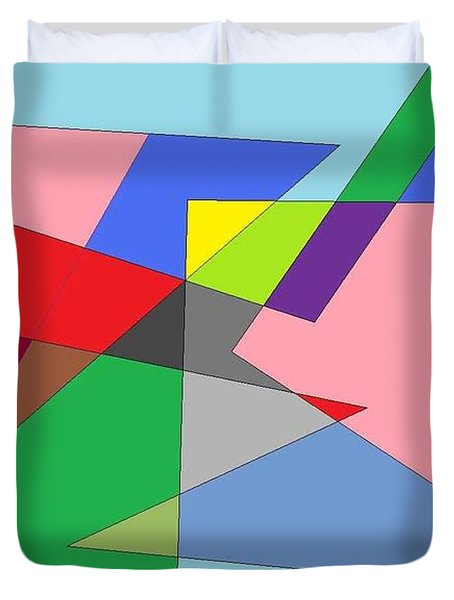Abstract Duvet Cover by Ron Davidson