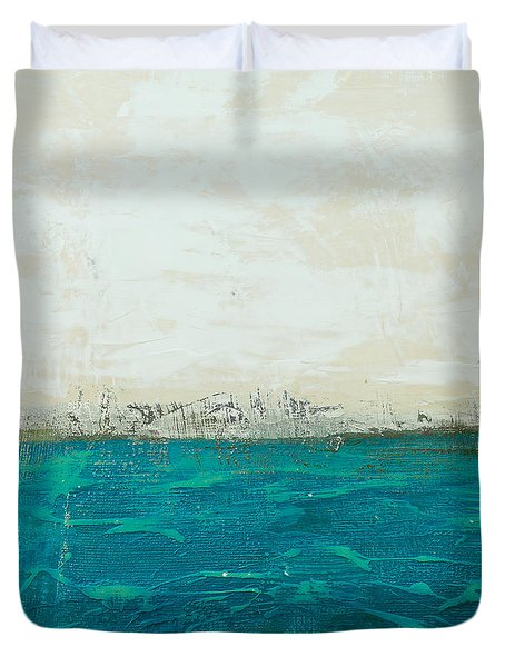 Abstract Seascape 02/14b Duvet Cover by Filippo B