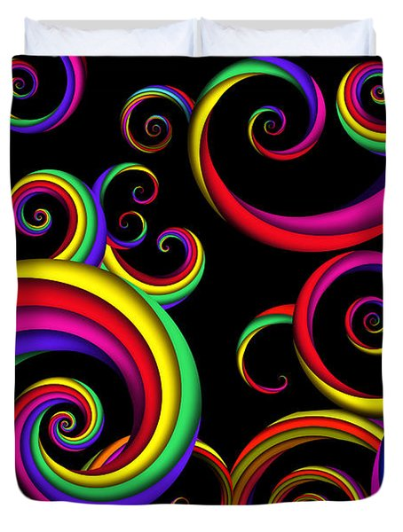 Abstract - Spirals - Inside A Clown Duvet Cover by Mike Savad
