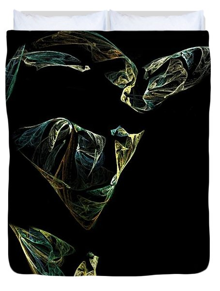 Abstract Stranger Duvet Cover by Sara  Raber