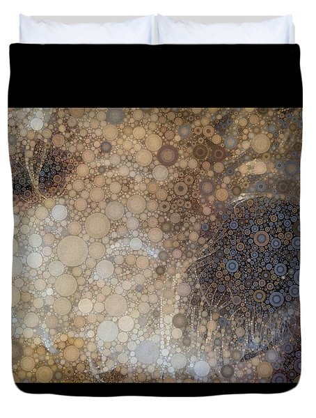 Abstract Study Of The Nose Of The Bichon Frise Duvet Cover by Susan Maxwell Schmidt