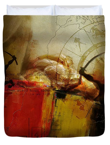 Abstract Tarot Art 014 Duvet Cover by Corporate Art Task Force
