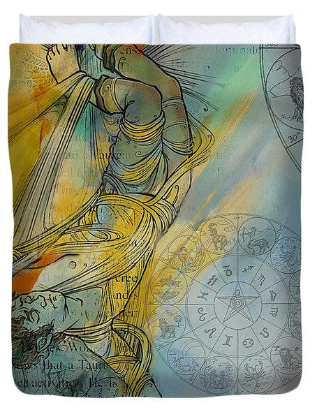 Abstract Tarot Art 015 Duvet Cover by Corporate Art Task Force
