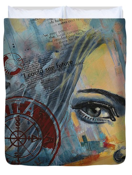 Abstract Tarot Art 022a Duvet Cover by Corporate Art Task Force