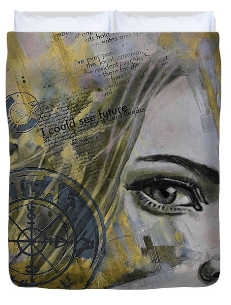 Abstract Tarot Art 022b Duvet Cover by Corporate Art Task Force