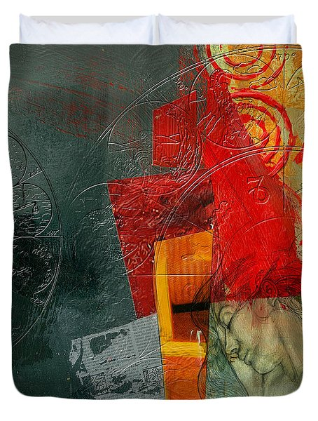 Abstract Tarot Card 004 Duvet Cover by Corporate Art Task Force