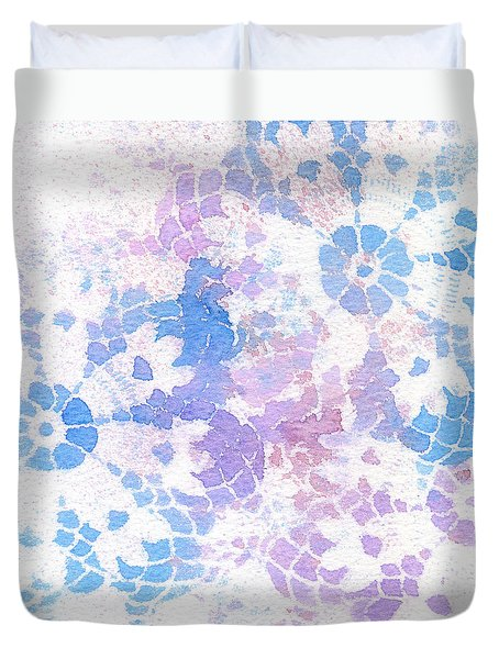 Abstract Vintage Lace Duvet Cover