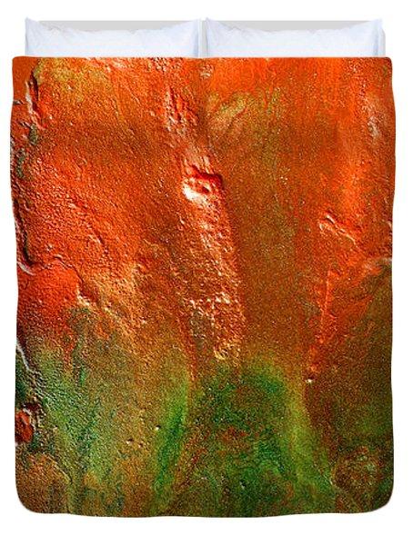 Abstract Vintage Landscape  Duvet Cover
