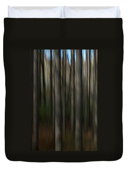 Duvet Cover featuring the photograph Abstract Woods by Randy Pollard