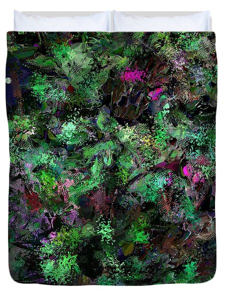 Duvet Cover featuring the digital art Abstraction 121514 by David Lane