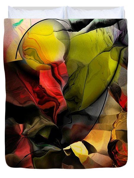 Abstraction 122614 Duvet Cover by David Lane