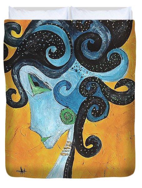 Abstraction 699 -marucii Duvet Cover by Marek Lutek