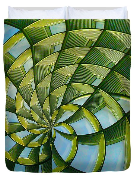 Duvet Cover featuring the photograph Abstraction A La M. C. Escher by Gary Holmes