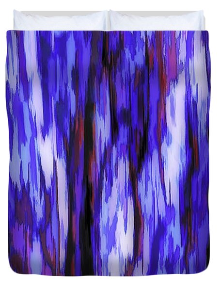 Duvet Cover featuring the photograph Abstraction By Movement by Nancy Marie Ricketts