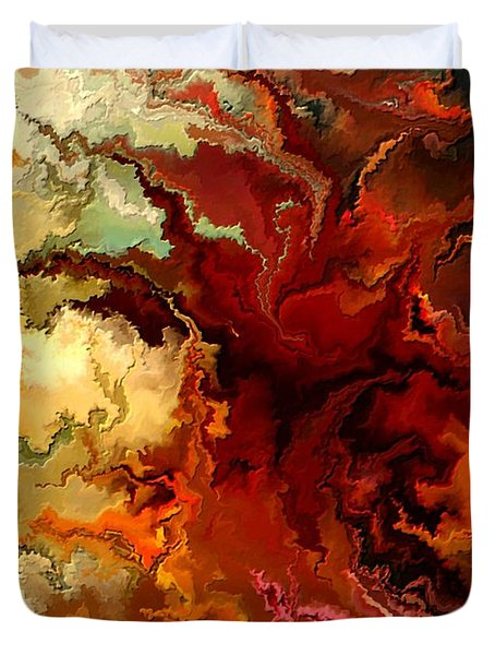 Abstraction Surrealist By Rafi Talby Duvet Cover by Rafi Talby