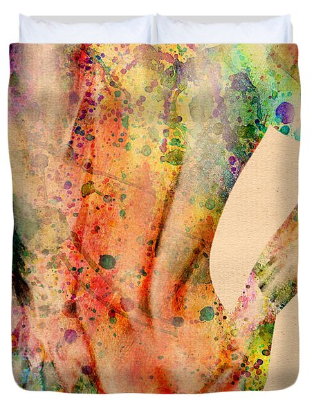 Abstractiv Body - 4 Duvet Cover by Mark Ashkenazi