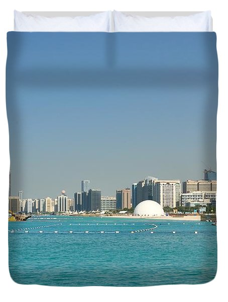 Duvet Cover featuring the photograph Abu Dhabi Skyline by Steven Richman