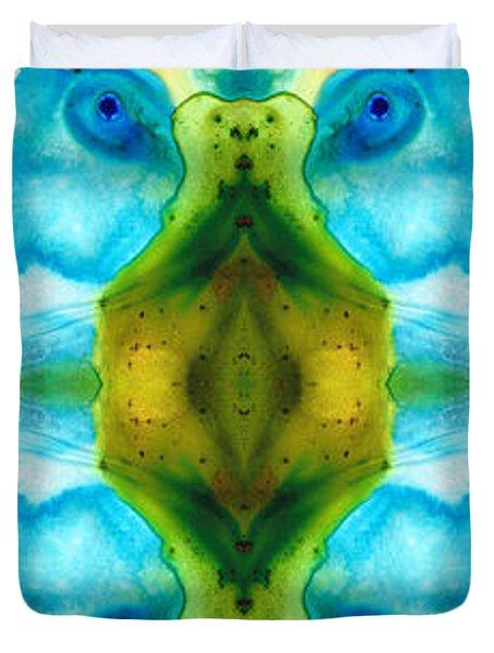 Abundant Life - Pattern Art By Sharon Cummings Duvet Cover by Sharon Cummings