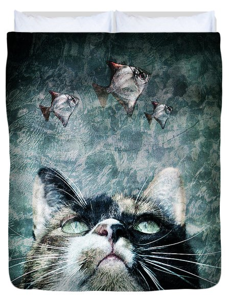Duvet Cover featuring the photograph Abyss Cat Nr 2 by Laura Melis